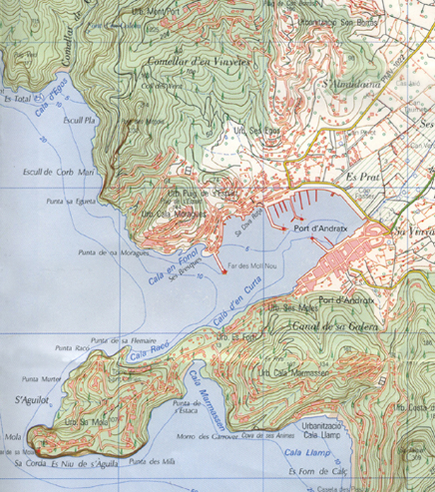 Port Andratx ordnance survey